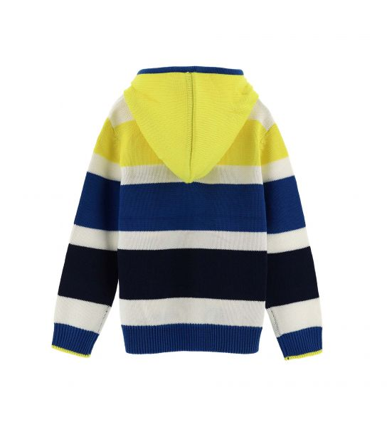 COTTON KNIT PULLOVER WITH HOOD