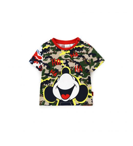 SHORT SLEEVE T-SHIRT WITH ALL OVER PRINT
