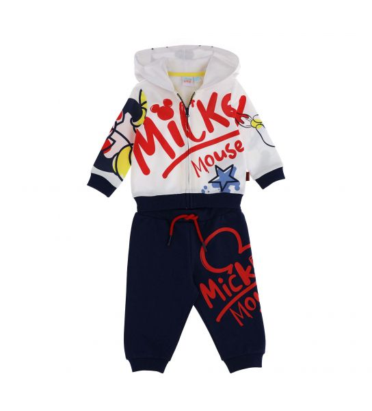 DISNEY SWEATSUIT IN COTTON WITH MICKEY PRINT