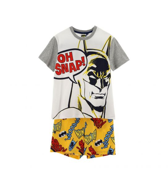 WARNER BATMAN SHORT SLEEVE PAJAMAS
