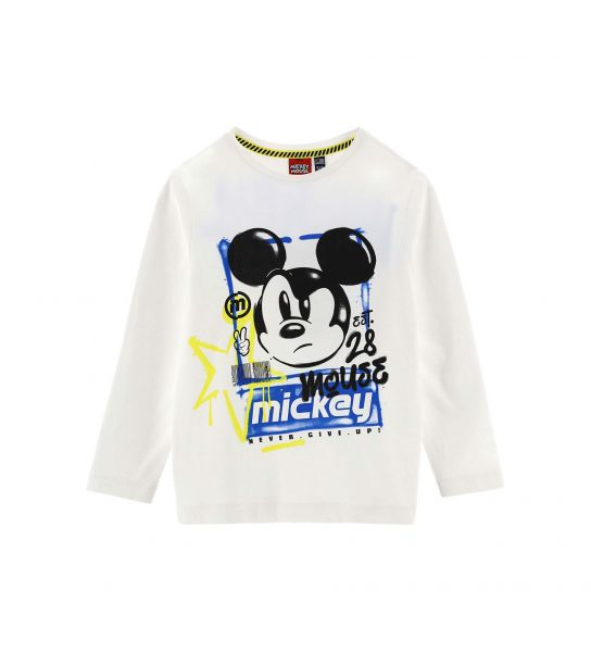 T-SHIRT IN COTONE MANICA LUNGA STAMPE DISNEY