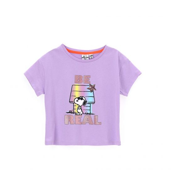 SNOOPY T-SHIRT WITH GLITTER