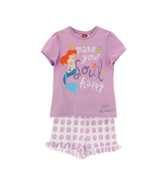 DISNEY ARIEL SHORT SLEEVE PAJAMAS
