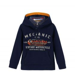 SWEATSHIRT WITH HOOD AND PATCH