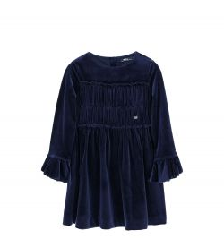 CHENILLE DRESS WITH HIDDEN ZIP
