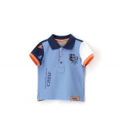 PIQUET POLO WITH EMBROIDERED SHORT SLEEVE