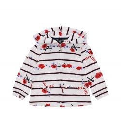 ELASTICIZED COTTON SWEATSHIRT WITH ALL OVER PRINT