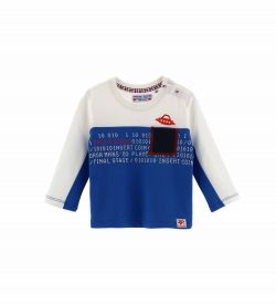LONG SLEEVE T-SHIRT WITH PRINT AND POCKET