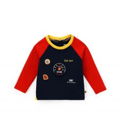 COTTON T-SHIRT WITH FRONT PATCH