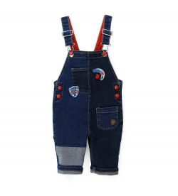 DUNGAREES WITH PATCHWORK PROCESSING