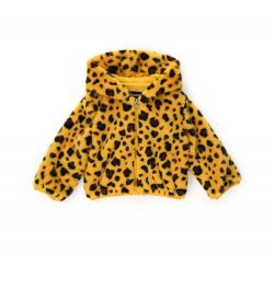 FAUX FUR JACKET WITH PRINT
