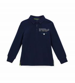 POLO SHIRT WITH UNDER NECK IN DENIM FABRIC
