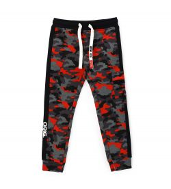 PANTS WITH SIDE BANDS WITH PRINTS