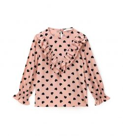 ALL OVER PRINTED VISCOSE BLOUSE