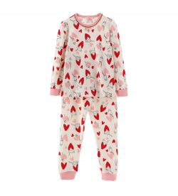 WARM COTTON PAJAMAS WITH ALL OVER PRINT