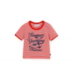 NEWBORN T-SHIRT WITH SHORT SLEEVE WITH PRINT