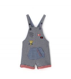 DUNGAREES IN EXTERNAL YARN DYED COTTON