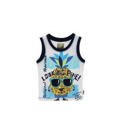 TANK TOP WITH PRINT AND PATCH
