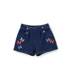 SHORTS IN STRETCH DENIM WITH POCKETS