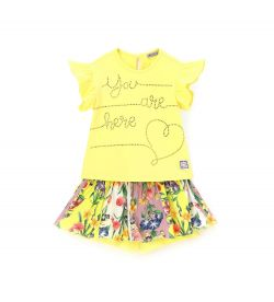 COMPLETE T-SHIRT AND SHORT WITH BOW
