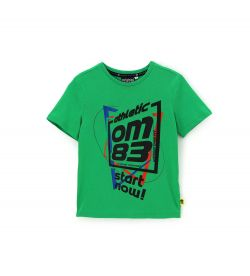 T-SHIRT IN COTONE MANICA CORTA COLLO A COSTA