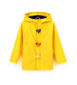 JACKET IN RUBBERIZED FABRIC AND HOOD