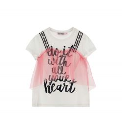 SHORT SLEEVE T-SHIRT AND TULLE FLOUNCE