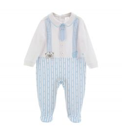 COTTON JUMPSUIT WITH TIE AND BRACES