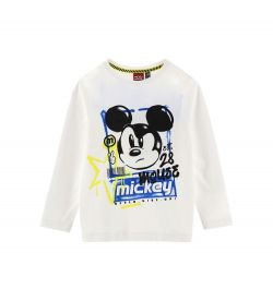LONG SLEEVE COTTON T-SHIRT WITH DISNEY PRINTS